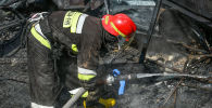 Пожарные, фото из архива