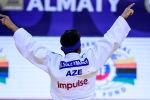 Азербайджанский дзюдоист Кямран Сулейманов (60 килограммов) на чемпионате мира среди кадетов, который проходит в Алматы (Казахстан)
