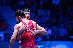 Азербайджанский борец греко-римского стиля Санан Сулейманов потерпел поражение от иранца Мухамедрзы Герайи