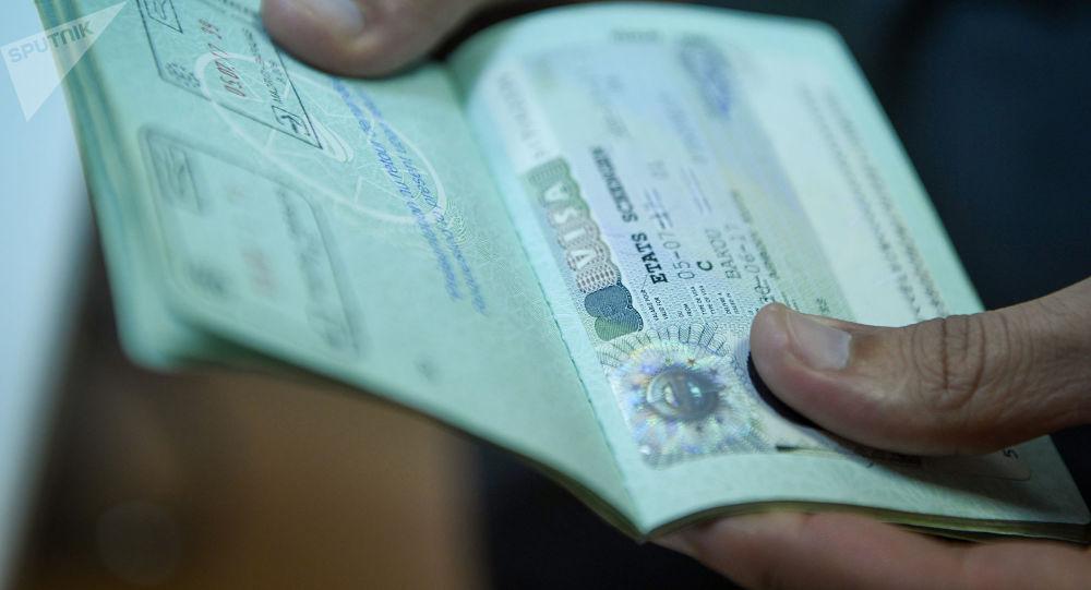 Pasportda viza, arxiv şəkli