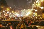 Центр Баку во время празднования Нового года