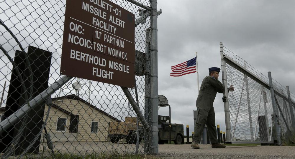 Ворота на базе ВВС США Майнот, фото из архива