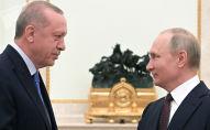 Rusiya Prezidenti Vladimir Putin və Türkiyə Prezidenti Rəcəb Tayyib Ərdoğan
