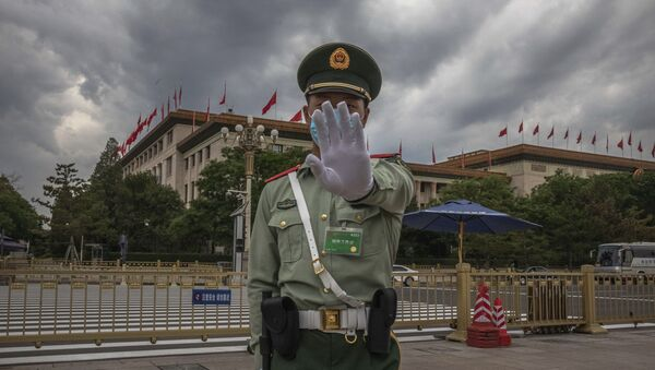 Солдат Народно-освободительной армии Китая, фото из архива - Sputnik Азербайджан