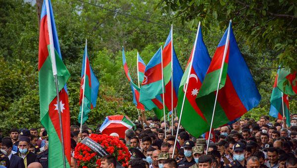 Похороны шехида, фото из архива - Sputnik Азербайджан