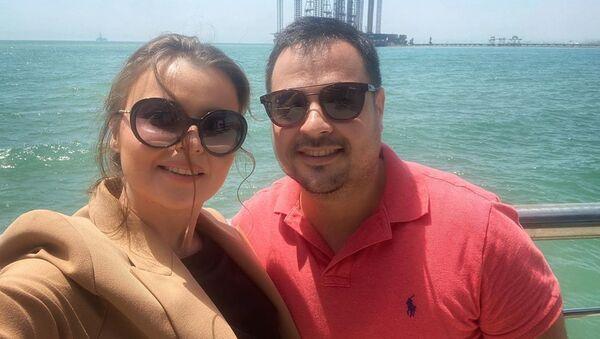 Певица Севда Яхъяева со своим мужем - Sputnik Азербайджан