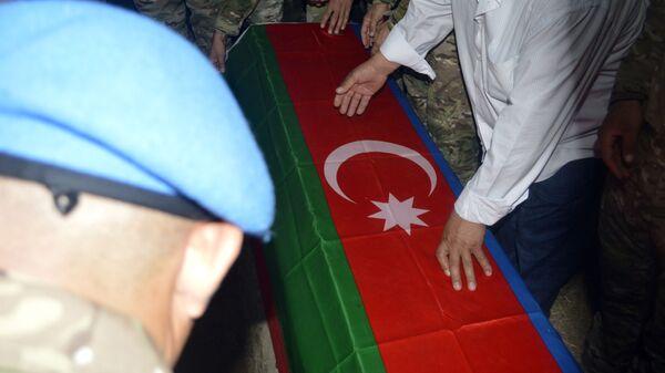 Şəhid mayor Anar Novruzovun dəfn mərasimi - Sputnik Азербайджан