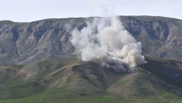 Взрыв во время учений, фото из архива - Sputnik Азербайджан