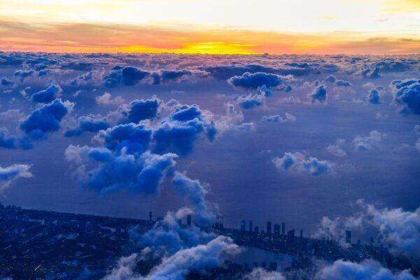 Аэрофотоснимок облаков над Южным Майами - Sputnik Азербайджан