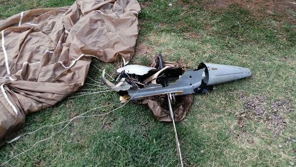 Уничтоженный подразделениями ВВС Азербайджана тактический БПЛА, принадлежащий ВС Армении - Sputnik Азербайджан