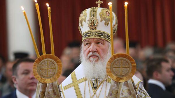 Патриарх Московский и всея Руси Кирилл, фото из архива - Sputnik Azərbaycan