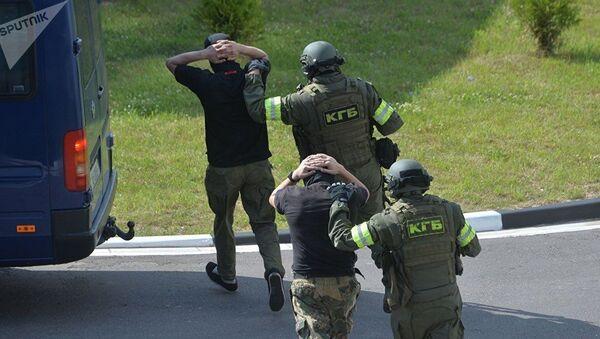Задержание условных террористов сотрудниками КГБ в Минске - Sputnik Azərbaycan
