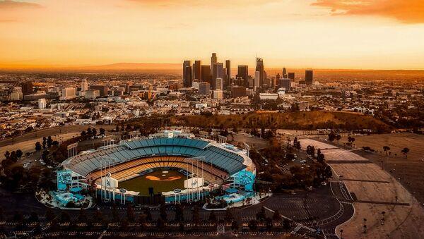 Вид на город Лос-Анджелес, фото из архива - Sputnik Азербайджан