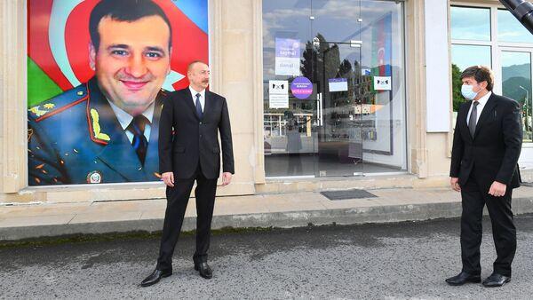 Prezident İlham Əliyev Qəbələdə - Sputnik Азербайджан
