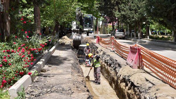 Реконструкция систем питьевой воды и канализации города Газах  - Sputnik Азербайджан