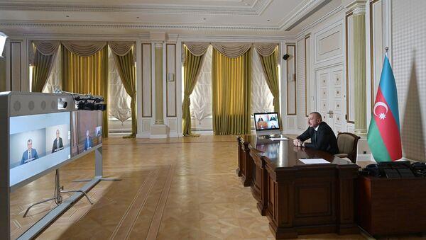 İlham Əliyev videoformatda müşavirə keçirib - Sputnik Азербайджан