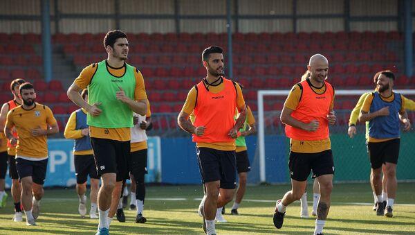 Sabah klubunun futbolçuları məşq zamanı, arxiv şəkli - Sputnik Азербайджан