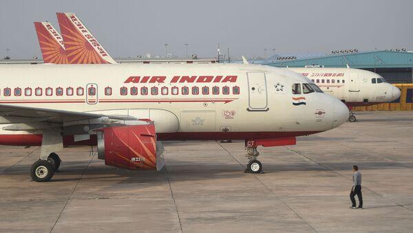 Самолет авиакомпании Air İndia, фото из архива - Sputnik Азербайджан