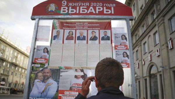 Во время выборов в Беларуси - Sputnik Азербайджан