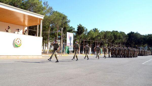 Церемония принятия Военной присяги - Sputnik Азербайджан