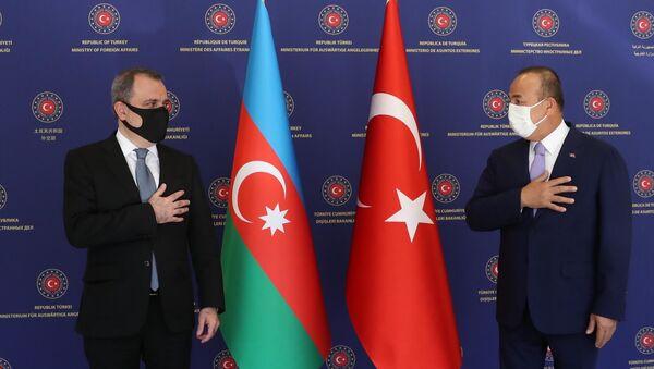 Azərbaycan və Türkiyə XİN başçılarının görüşü - Sputnik Азербайджан