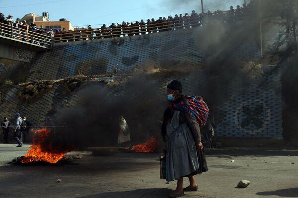 Протесты в Эль Альто, Боливия  - Sputnik Азербайджан