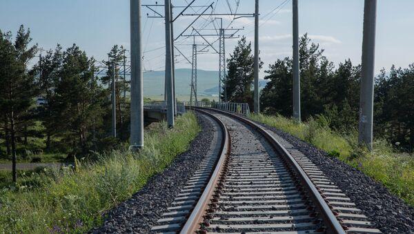 Железнодорожные пути, фото из архива - Sputnik Azərbaycan