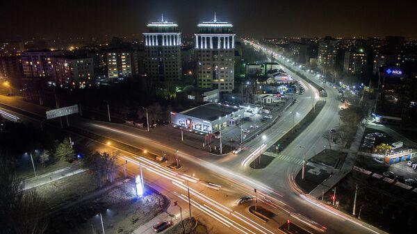 Вид на ночной Бишкек - Sputnik Azərbaycan