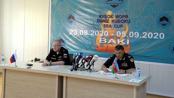 Azərbaycan HDQ-nin qərargahında Rusiya nümayəndə heyəti ilə görüş - Sputnik Азербайджан