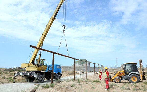 Работы по реконструкции транспортных газопроводов  - Sputnik Азербайджан