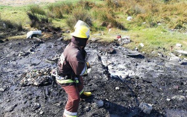 Пожар поблизости от поселка Химиков - Sputnik Азербайджан