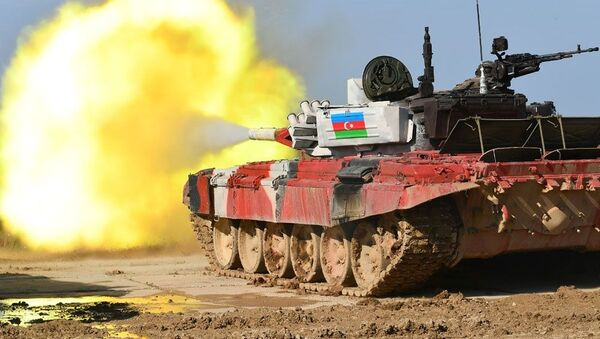 Tankçılarımız Tank biatlonunda - Sputnik Азербайджан