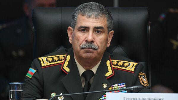 Mинистр обороны Азербайджана Закир Гасанов, фото из архива - Sputnik Azərbaycan