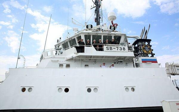 Корабли Каспийской флотилии Военно-морского флота (ВМФ) России покинули Бакинский порт - Sputnik Азербайджан