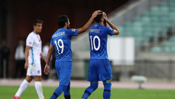 Во время матча между Азербайджаном и Люксембургом - Sputnik Азербайджан