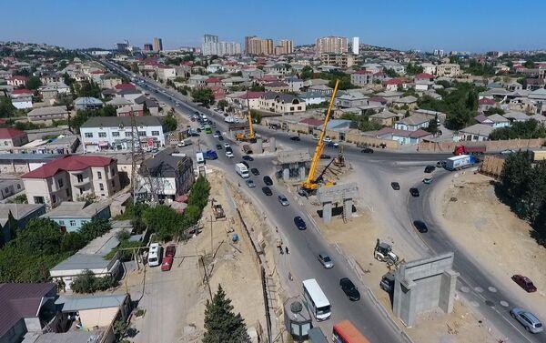 Строительство многоуровневой транспортной развязки на круге Сулутепе  - Sputnik Азербайджан