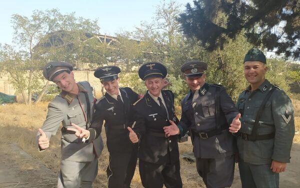 Съемки фильма, посвященного известному азербайджанскому партизану Ахмедие Джабраилову - Sputnik Азербайджан