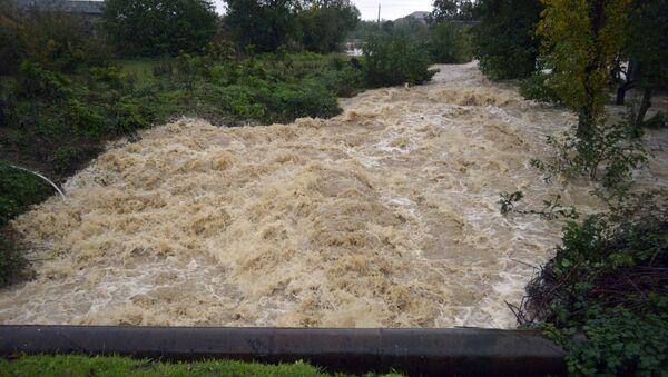 Наводнение, фото из архива - Sputnik Azərbaycan