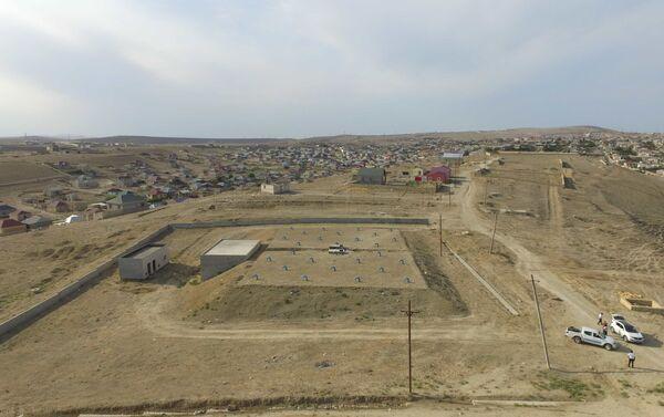 Строительство новых водяных резервуаров в поселке Гобу - Sputnik Азербайджан