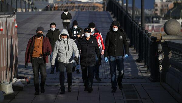 Мигранты в России, фото из архива - Sputnik Азербайджан