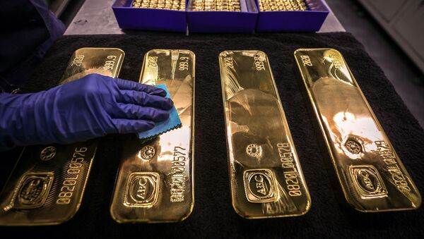 Золотые слитки, фото из архива - Sputnik Azərbaycan