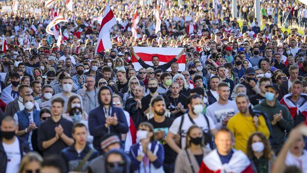 Протесты в Минске, фото из архива - Sputnik Azərbaycan