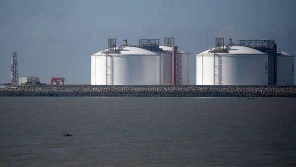 Прибытие  двух танкеров со сжиженным газом, фото из архива - Sputnik Азербайджан