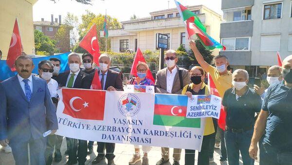 Акция в поддержку ВС АР в Стамбуле - Sputnik Азербайджан