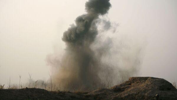 Взрывы во время учений, фото из архива - Sputnik Азербайджан