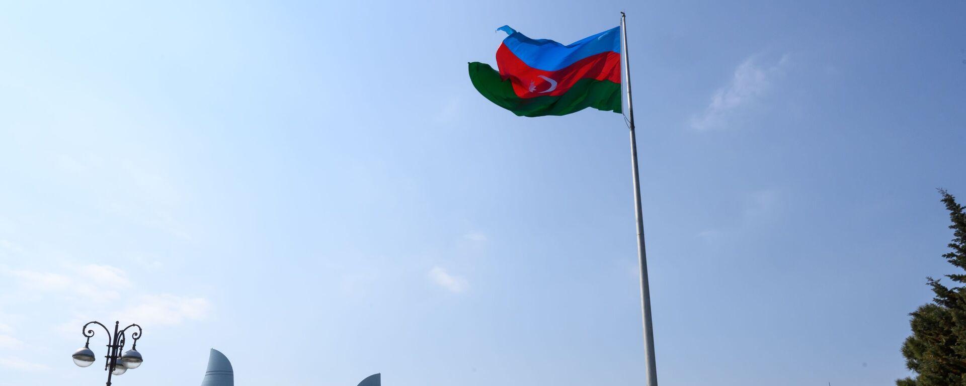 Флаг Азербайджана, фото из архива - Sputnik Азербайджан, 1920, 19.04.2021