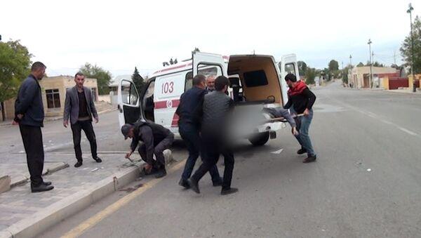 Чем закончился дождь из снарядов в обстрелянном Тертере – видео 18+ - Sputnik Азербайджан