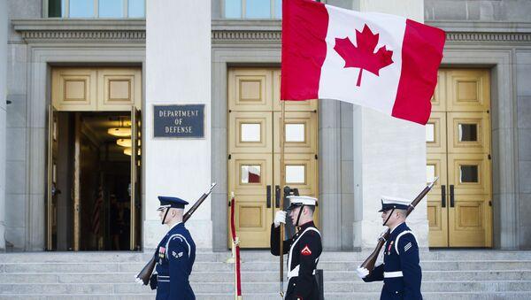 Флаг Канады, фото из архива - Sputnik Азербайджан