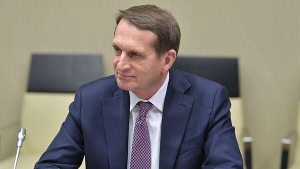 Директор Службы внешней разведки РФ Сергей Нарышкин, фото из архива - Sputnik Азербайджан
