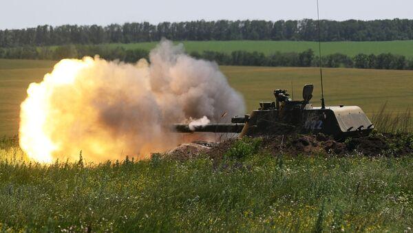 Самоходная артиллерийская установка Акация - Sputnik Азербайджан